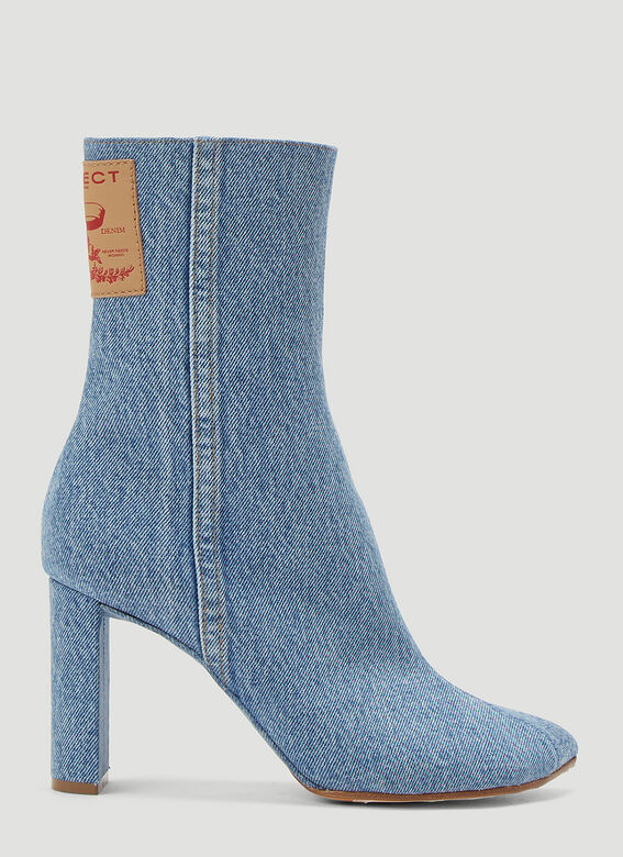 Y/Project Denim Heeled Boots 1