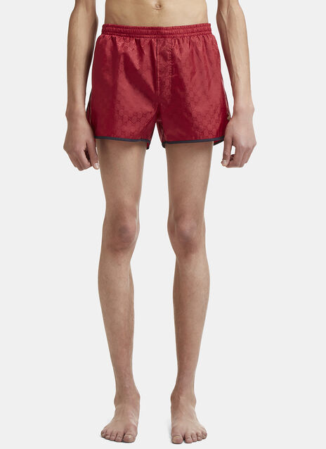 Gucci Bee Embroidered Swimming Shorts