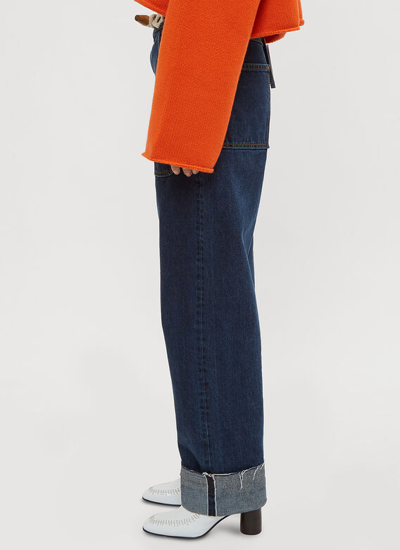 JW Anderson Oversized Toggle Straight Leg Jeans