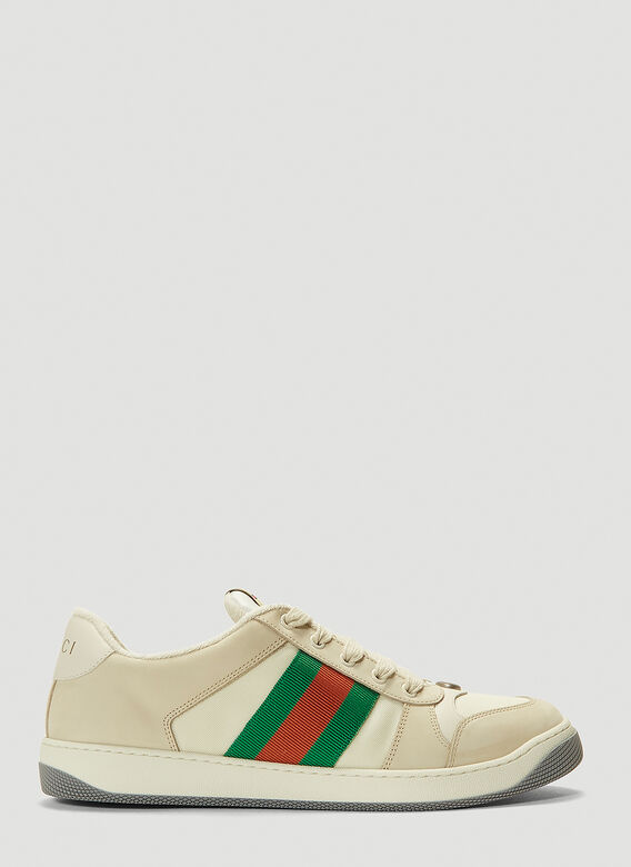 Gucci SCREENER TRAINERS NYLON AND LEATHER 1