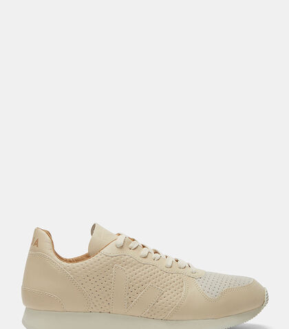 Holiday Low-Top Perforated Leather Sneakers