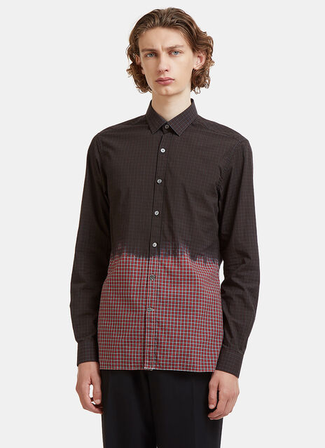 Lanvin Dip-Dye Checked Shirt