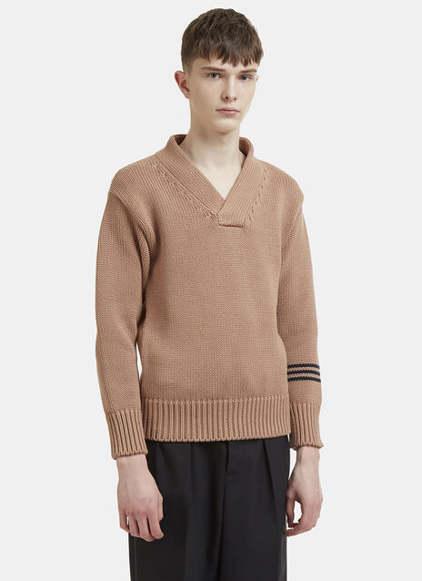 Maison Margiela V-Neck Knit Jumper