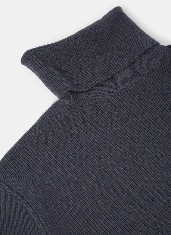 Aiezen AIEZEN Ribbed Polo Neck Sweater 5