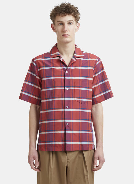 Acne Studios Elms Checked Short Sleeve Shirt