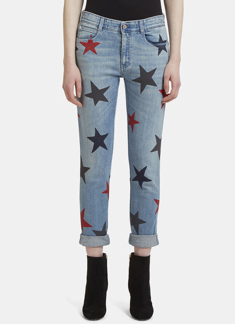 Stella McCartney Star Printed Skinny Jeans