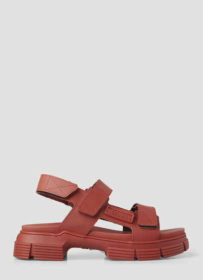 GANNI Recycled Rubber Sandals