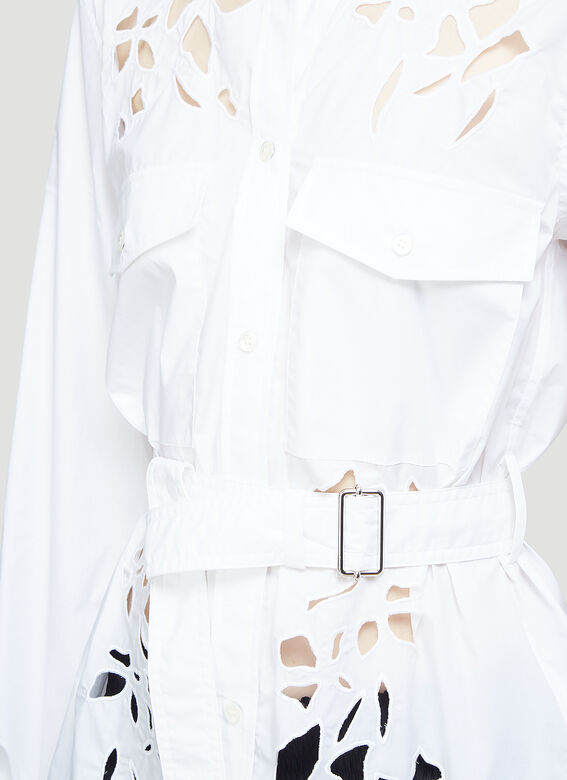 JW Anderson BELTED CUT-OUT BELL SLEEVE SHIRT 5