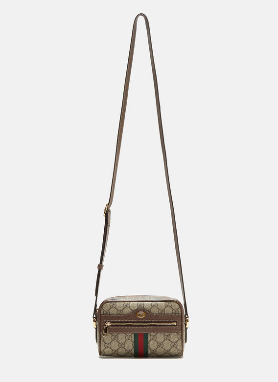 2209b613f36a37 Gucci Ophidia GG Supreme Shoulder Bag in Brown | LN-CC
