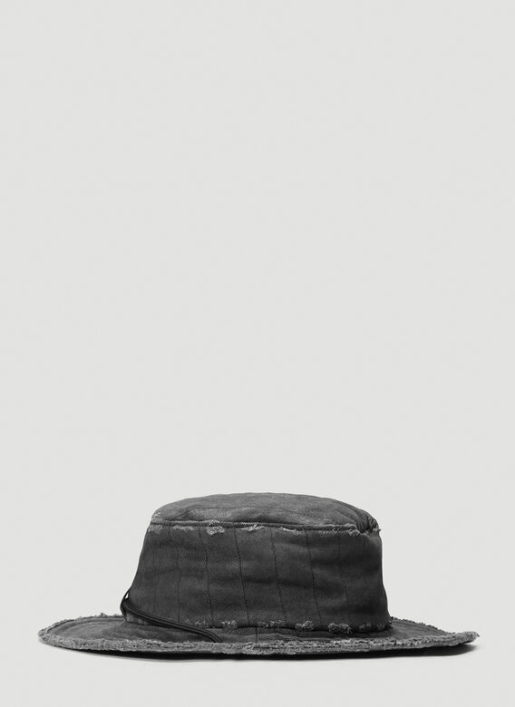 A-COLD-WALL* X Diesel Red Tag Denim Overlay Bucket Hat 3