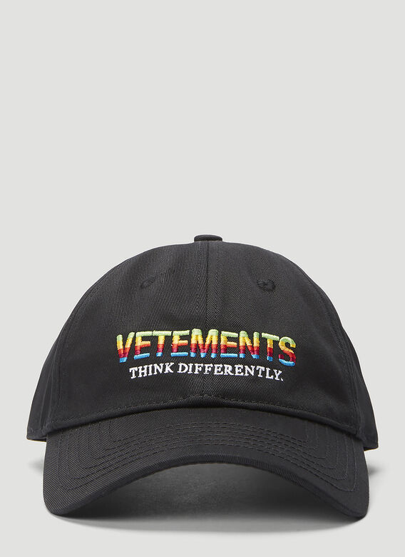 VETEMENTS THINK DIFFERENTLY LOGO CAP 1