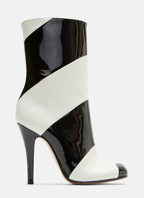 Maison Margiela Tabi Striped Stiletto Ankle Boots