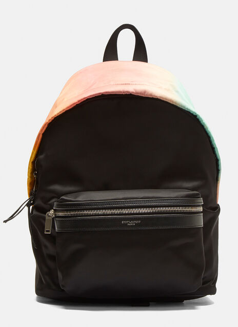 Saint Laurent Faded Rainbow City Backpack