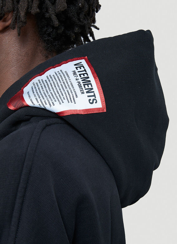 Vetements Logo-Patch Hooded Sweatshirt 5