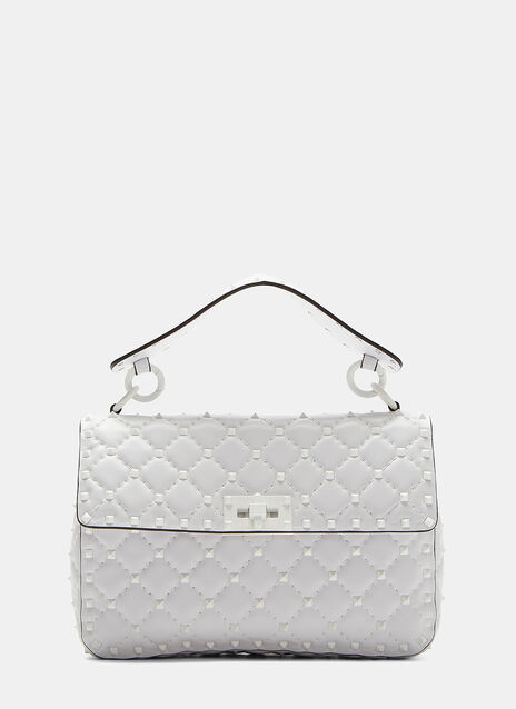 Valentino Rockstud Spike Medium Quilted Leather Shoulder Bag