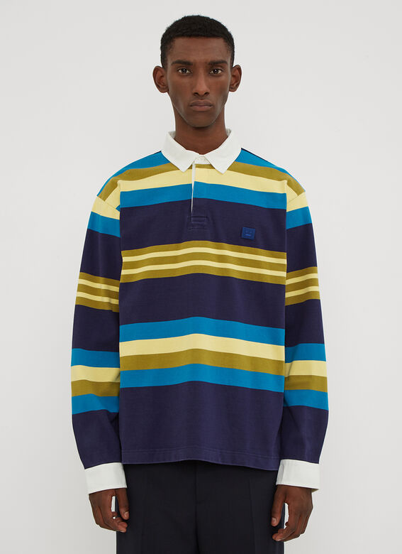 Acne Studios Striped Rugby Long Sleeve T-Shirt