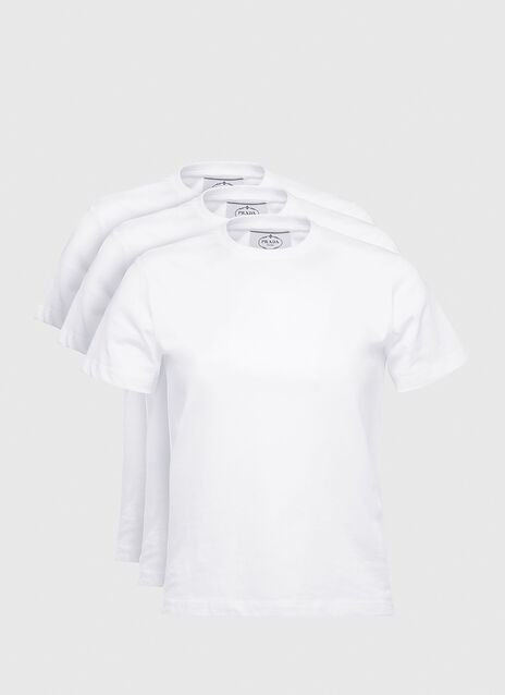 Prada Set of Three Jersey T-shirts