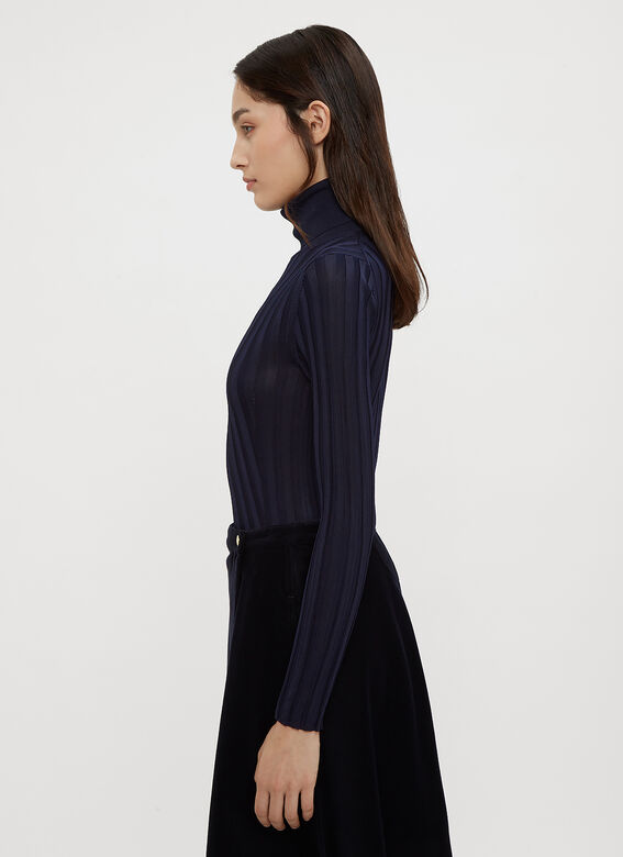 Acne Studios Fine Ribbed Knit Turtle Neck Sweater