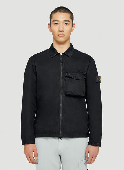 Stone Island Patch-Pocket Overshirt