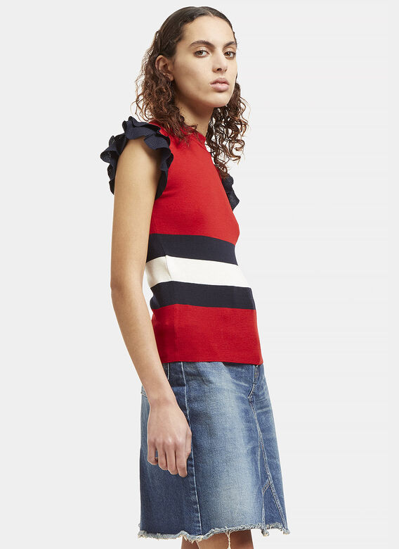 Gucci Frilled Knit Tank Top