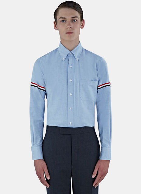 Thom Browne Striped Armband Classic Oxford Shirt