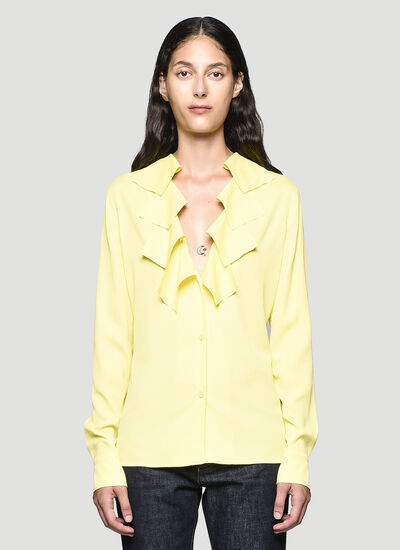 Bottega Veneta Ruffled-Trim Shirt