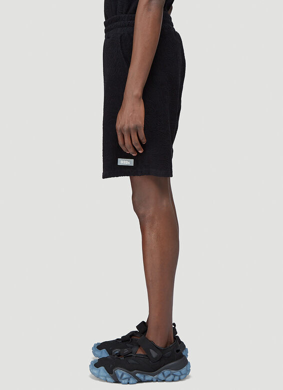 """032C """"Topos"""" Shaved Terry Shorts Black 100% CO 3"""