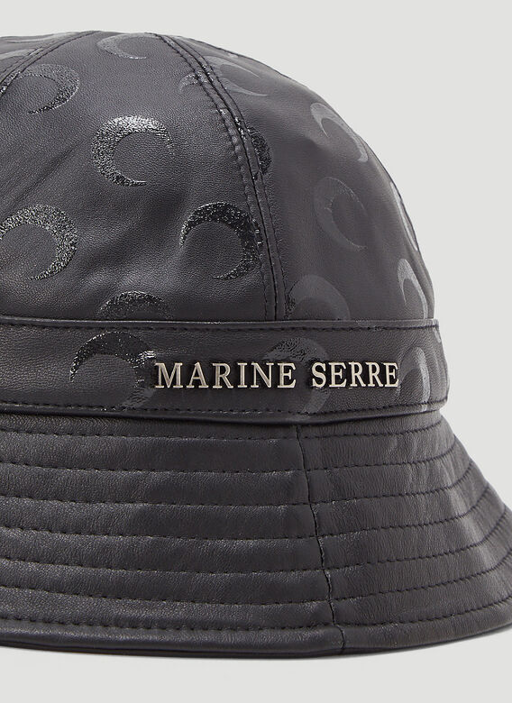 Marine Serre MOON PRINTED LEATHER BELL HAT -REGENERATED- 5