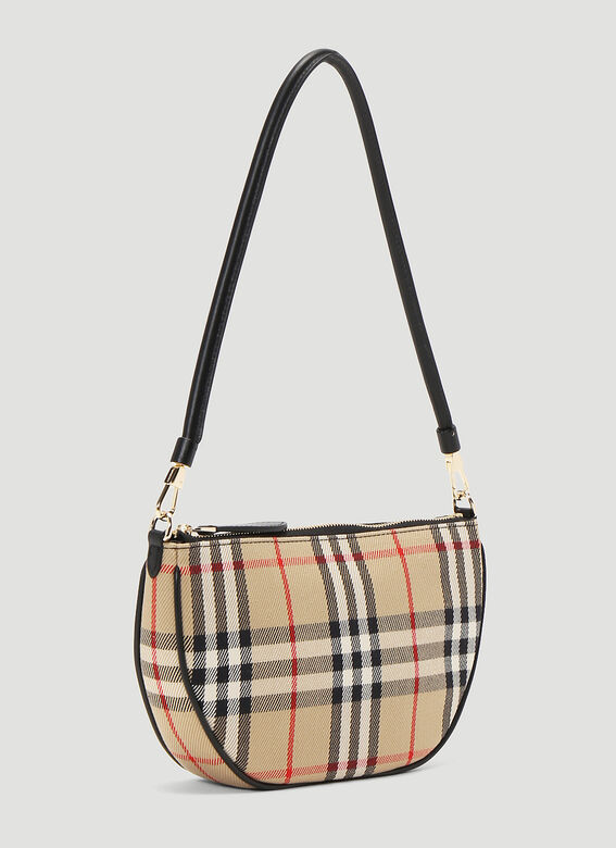 Burberry Olympia Vintage-Check Pouch Bag 3