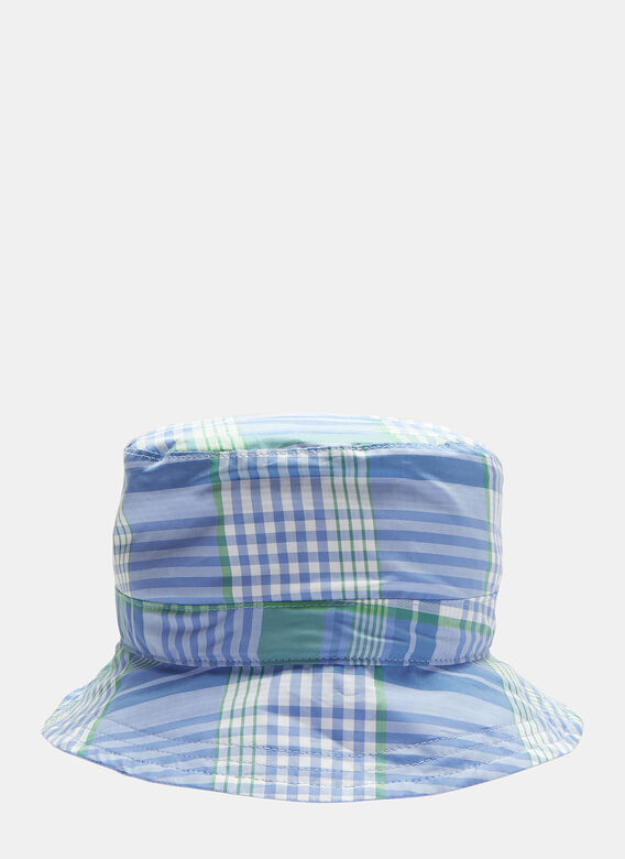 bfaaa1e99f5 Thom Browne Reversible Check Bucket Hat in Blue