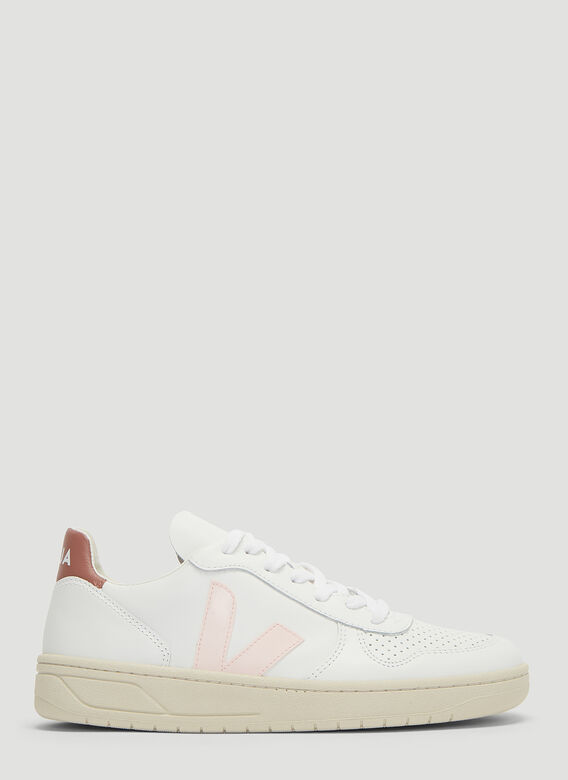V10 Leather Sneakers In White by Veja