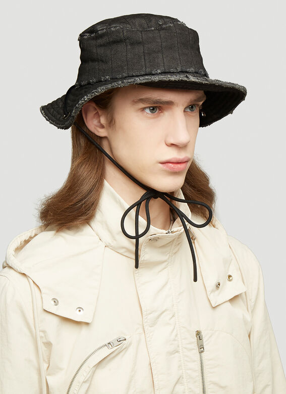 A-COLD-WALL* X Diesel Red Tag Denim Overlay Bucket Hat 2