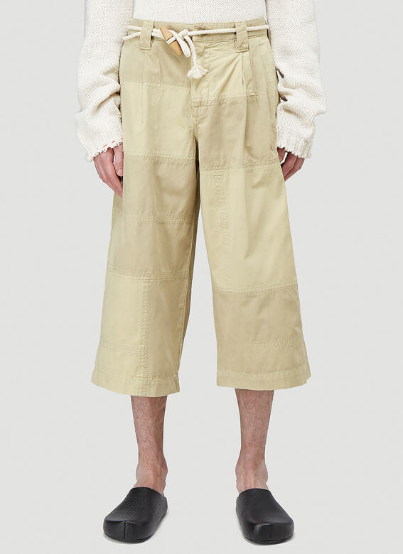 JW Anderson CROPPED TROUSERS PATCHWORK 1
