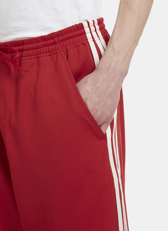 5aef4e8aa Y3 Three Stripe Cropped Track Pants in Red