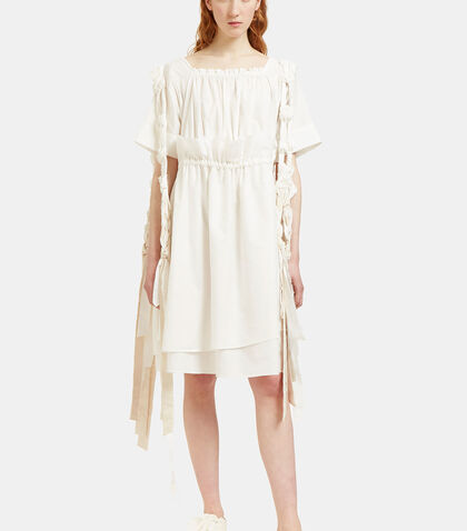 Oversized Knotted Shoulder Tie Dress