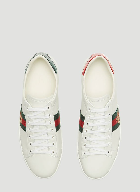 Gucci Ace Bee Embroidered Sneakers 2