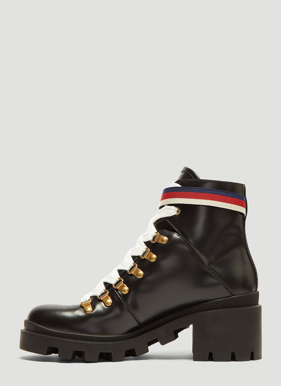 Gucci Trecking Heeled Ankle Boot 3