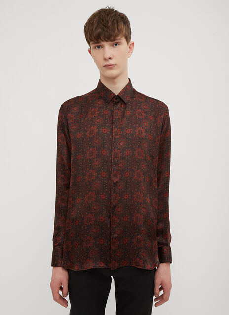 Saint Laurent Silk Paisley Shirt