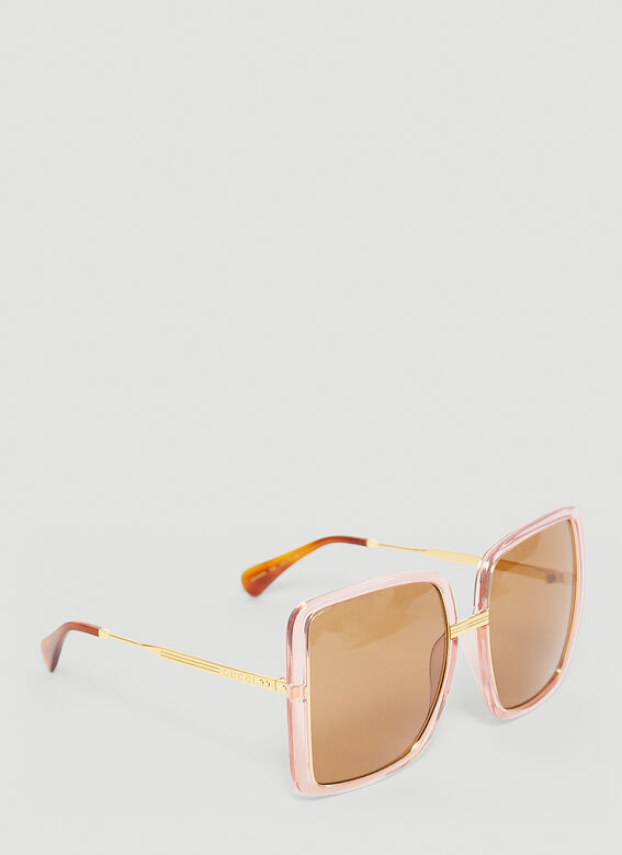 Gucci GG0903S WOMAN SUNGL - pink gold brown 3
