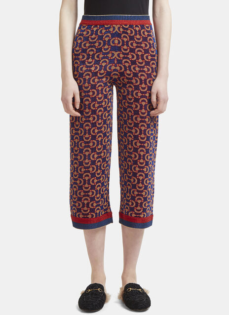 Gucci Lurex Jacquard Cropped Pants