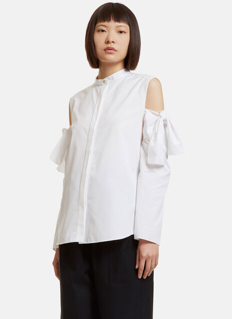 Oversized Bow Tied Cut-Out Shirt
