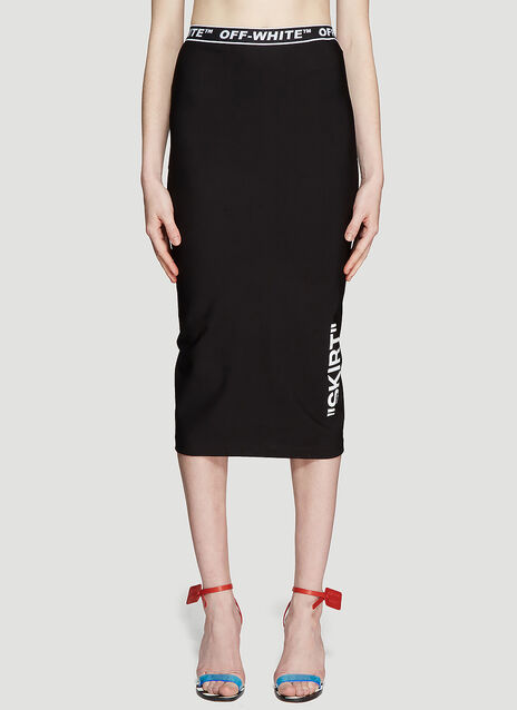 Off-White High-waisted Pencil Skirt