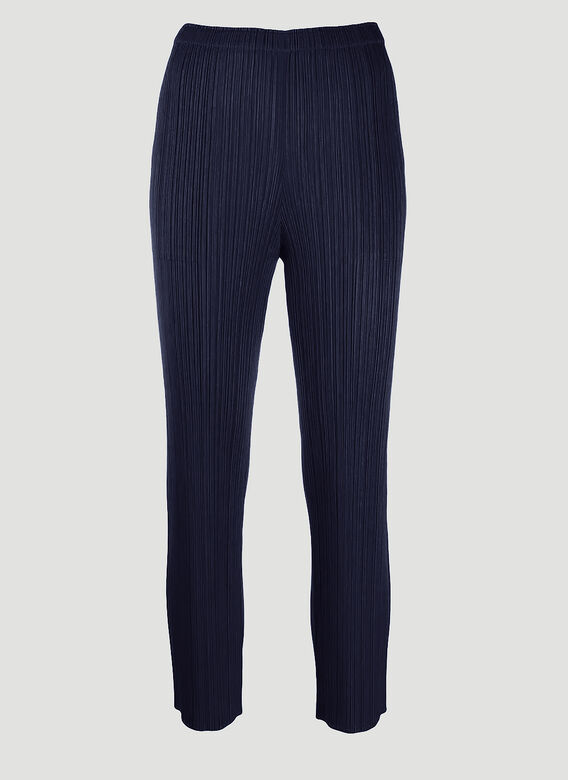 Pleats Please Issey Miyake Basics Straight Leg Pants 1