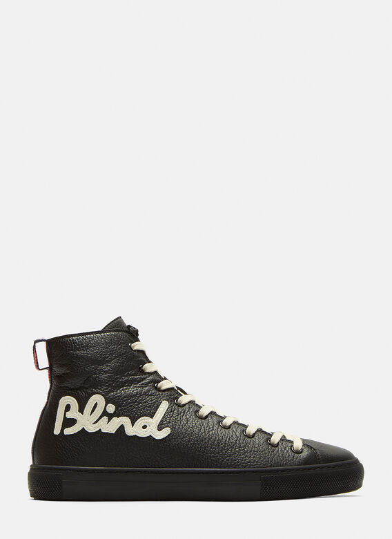 6fd45f5b76c Blind for Love Embroidered High-Top Sneakers in Black