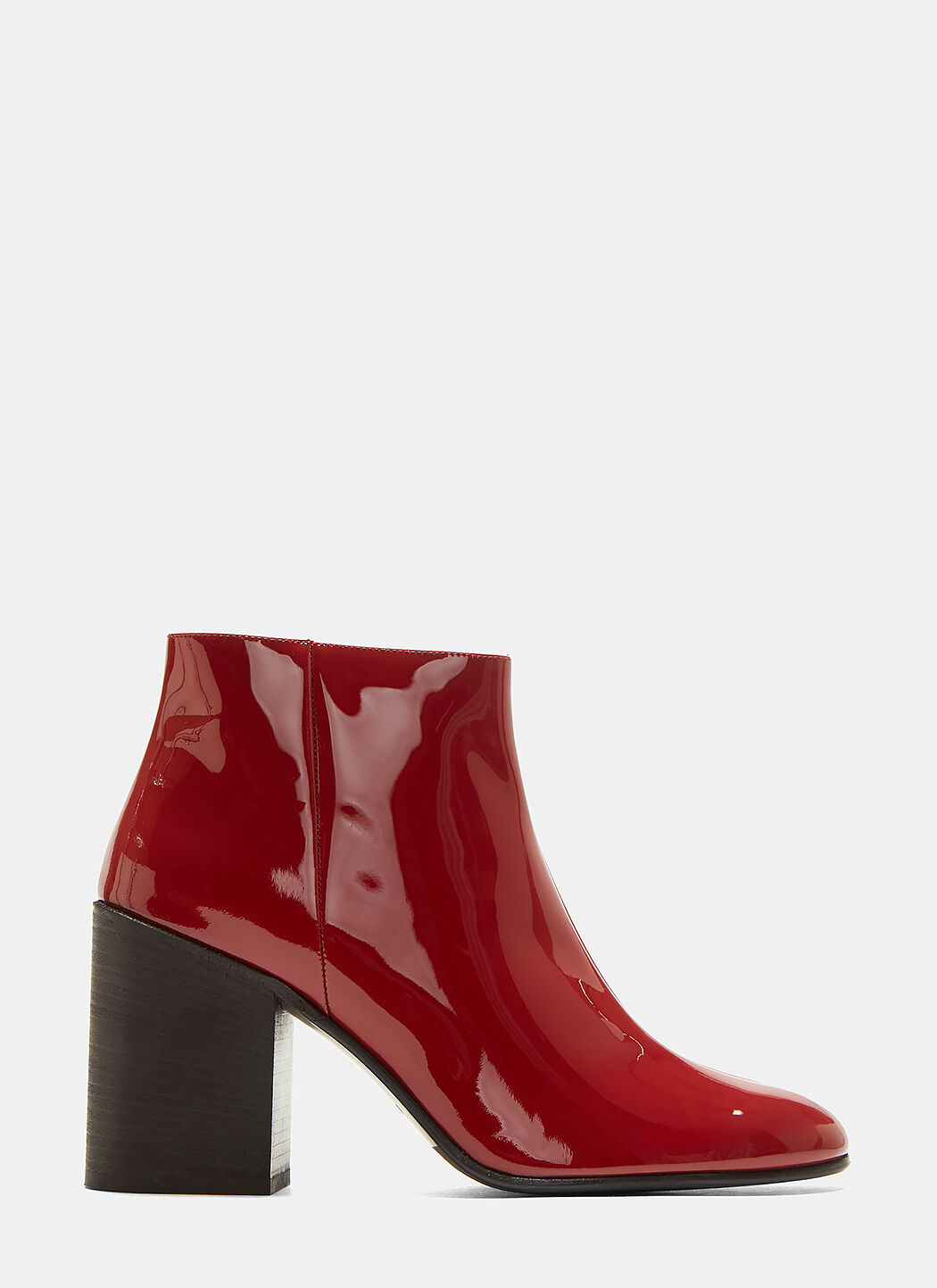 Acne Studios Beth Patent Leather Ankle Boots In Red   ModeSens 83389933dc0