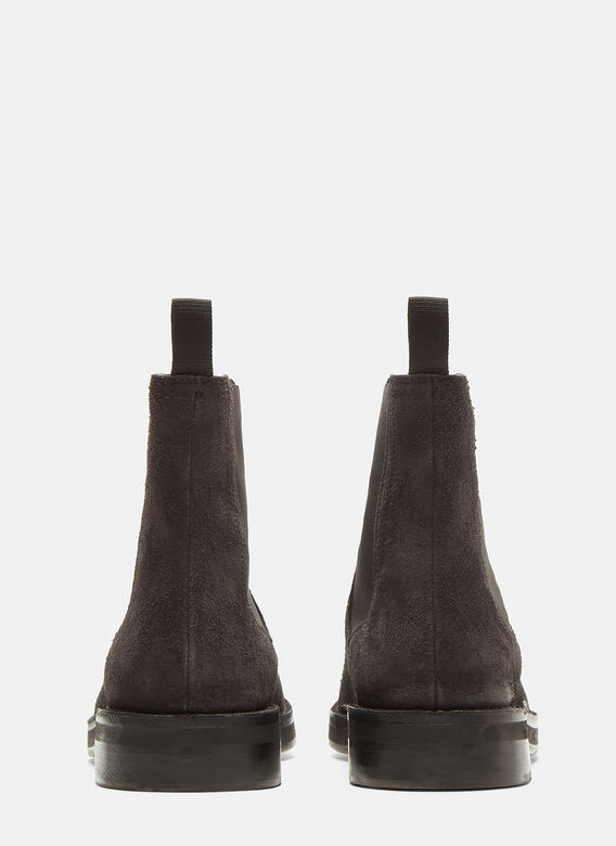 ccca112b832 Yeezy Shaggy Suede Chelsea Boots in Black