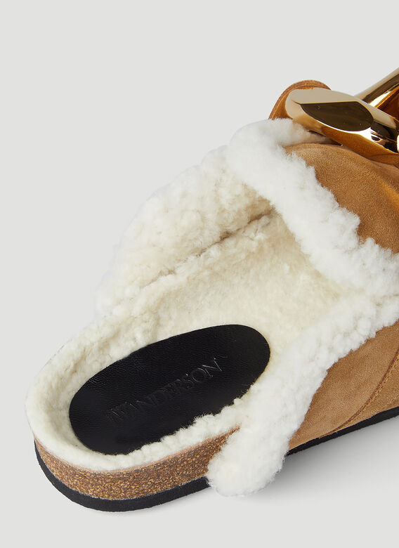 JW Anderson Chain Shearling Loafers 7