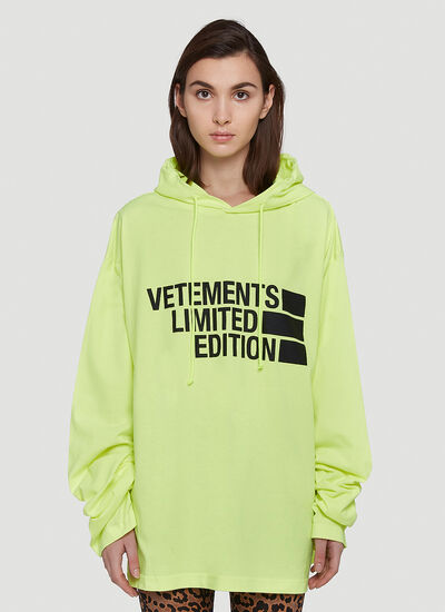 Vetements Logo Limited Edition Hooded Sweatshirt