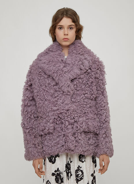 Miu Miu Sheepskin Shawl Collar Jacket