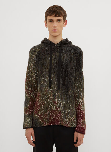 Federico Curradi Hooded Raglan knit Sweater